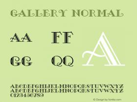 Gallery Normal 1.0 Tue Jul 27 02:41:43 1993 Font Sample