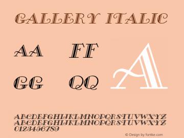 Gallery Italic Altsys Fontographer 4.1 5/8/96 Font Sample