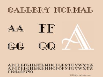 Gallery Normal Altsys Fontographer 4.1 5/8/96 Font Sample