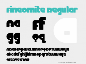 FineOMite Regular Macromedia Fontographer 4.1.3 3/17/02 Font Sample