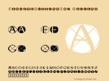 FisheyeButtonsTwo Regular Macromedia Fontographer 4.1.3 03.01.2002 Font Sample