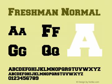 Freshman Normal 1.0 Mon Oct 04 06:34:30 1993图片样张