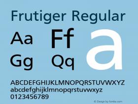 Frutiger Regular 001.000 Font Sample