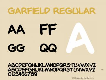 Garfield Font Garfield Version 1 00 October 25 2008 Initial Release Font Ttf Font Uncategorized Font Fontke Com