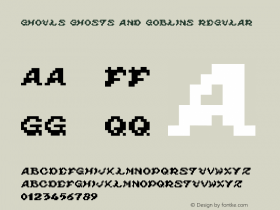 ghouls ghosts and goblins Regular v2.5 - (( xero harrison - http://fontvir.us ))图片样张