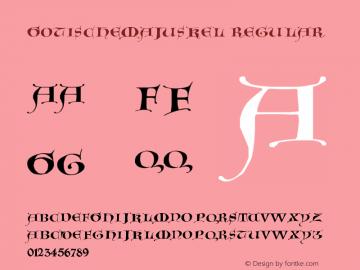 GotischeMajuskel Regular 1.0 2004-06-05 Font Sample