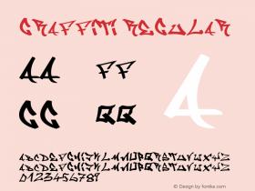 Graffiti Regular Version 1.00 October 30, 2005, initial release Font Sample