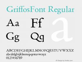 GriffosFont Regular 1.0图片样张