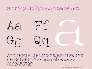 GrungyOldTypewriterGhost ☞ Version 1.000;com.myfonts.easy.ridpath-creative.grungy-old-typewriter.ghost.wfkit2.version.4o5p Font Sample