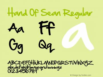 Hand Of Sean Regular Version 2 December 28th, 2009图片样张