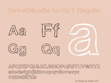 Helvetidoodle by Ed T Regular Version 1.000图片样张