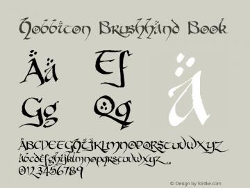 Hobbiton Brushhand Book Version 001.000 Font Sample