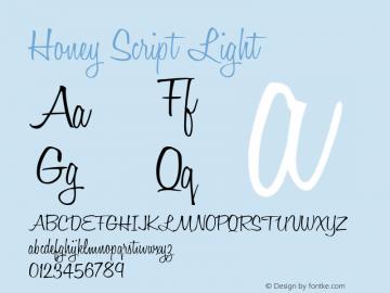 Honey Script Light 001.007 Font Sample