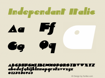 Independant Italic Version 1.0; 2000;图片样张