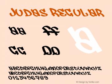 Judas Regular Macromedia Fontographer 4.1.5 25‐07‐2001 Font Sample