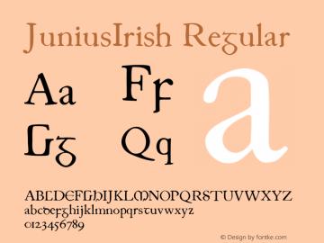 JuniusIrish Regular 1.0 2004-06-13 Font Sample