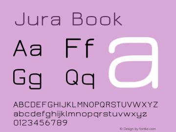 Jura Book Version 2.3 Font Sample