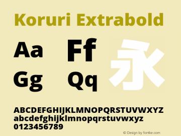 Koruri Extrabold Version 1.00 Font Sample