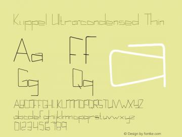 Kuppel Ultra-condensed Thin Version 1.000 Font Sample