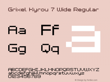 Grixel Kyrou 7 Wide Regular 1.00图片样张