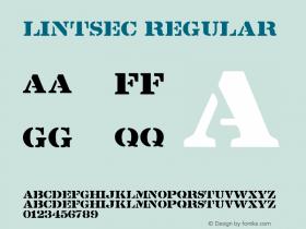 Lintsec Regular Altsys Fontographer 3.5  8/19/92 Font Sample