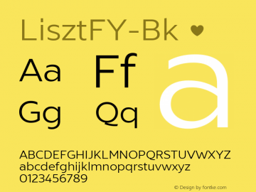 LisztFY-Bk ☞ Version 1.000;PS 1.0;hotconv 1.0.72;makeotf.lib2.5.5900;com.myfonts.easy.fontyou.liszt-fy.book.wfkit2.version.4kkt图片样张