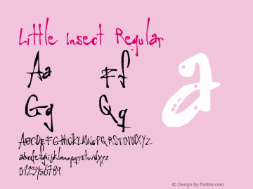 Little Insect Regular 2000; 1.0, initial release Font Sample