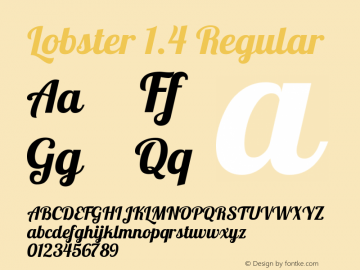 Lobster 1.4 Regular Version 1.4 Font Sample