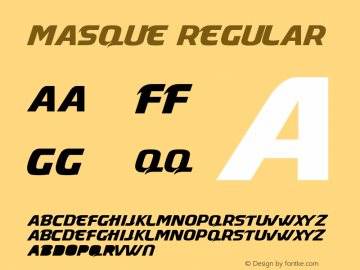 Masque Regular 1.0图片样张