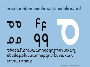 Masterdom Condensed Condensed 1 Font Sample