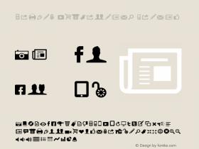 Modern Pictograms Normal 1.000 Font Sample