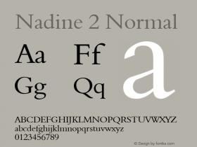Nadine 2 Normal Altsys Fontographer 4.1 1/9/95 Font Sample