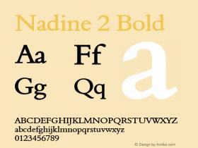 Nadine 2 Bold Altsys Fontographer 4.1 1/9/95 Font Sample