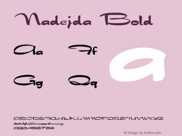 Nadejda Bold Version 1.4; 2001 Font Sample