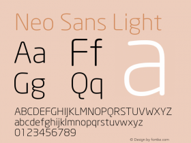 Neo Sans Light Version 001.000 Font Sample