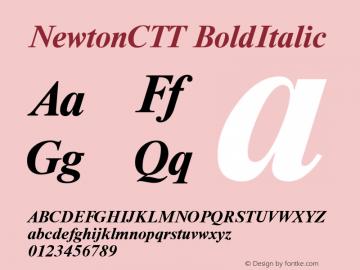 NewtonCTT BoldItalic TrueType Maker version 1.10.00 Font Sample