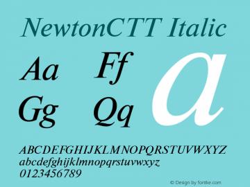 NewtonCTT Italic TrueType Maker version 1.10.00 Font Sample