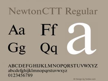NewtonCTT Regular TrueType Maker version 1.10.00 Font Sample