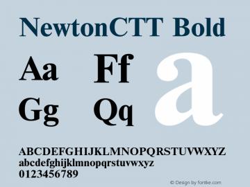 NewtonCTT Bold TrueType Maker version 1.10.00 Font Sample