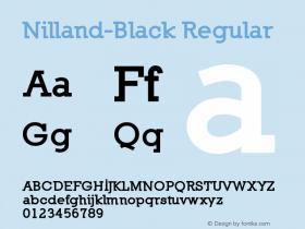 Nilland-Black Regular 1.0 2005-03-11图片样张