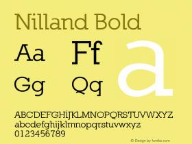 Nilland Bold 1.0 2005-03-11 Font Sample