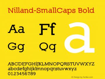 Nilland-SmallCaps Bold 1.0 2005-03-12 Font Sample