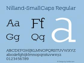 Nilland-SmallCaps Regular 1.0 2005-03-12 Font Sample
