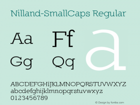 Nilland-SmallCaps Regular 1.0 2005-03-12 Font Sample