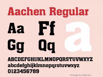 Aachen Regular Altsys Fontographer 3.5  6/28/93 Font Sample