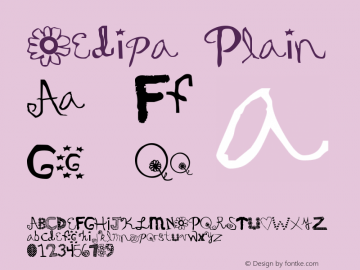 Oedipa Plain Version Altsys Fontographer Font Sample