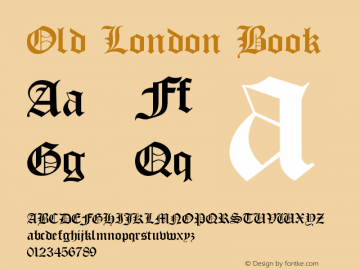 Old London Book Version 1.0 Font Sample