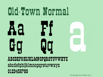 Old-Town Normal 001.000图片样张