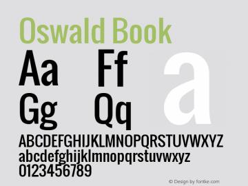 Oswald Book Version 1.000 Font Sample