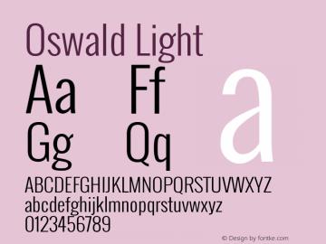 Oswald Light Version ; ttfautohint (v0.92.18-e454-dirty) -l 8 -r 50 -G 200 -x 0 -w